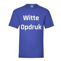 Blauw Shirt Witte Opdruk
