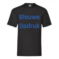 Zwart Shirt Blauwe Opdruk