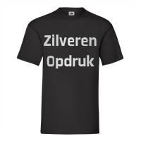 Zwart Shirt Zilveren Opdruk