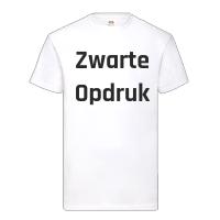 Wit Shirt Zwarte Opdruk