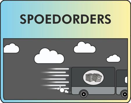 Klik hier voor informatie over orders die snel af moeten zijn.